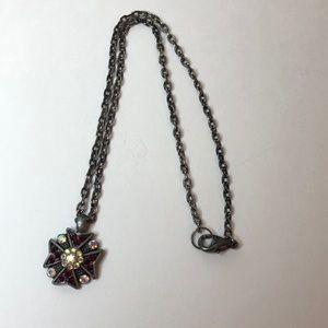 Bebe Gunmetal Necklace